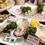 様々な種類の牡蠣を、季節に合わせ日本各地から仕入れています!