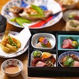 お昼の会食や、仕出しもご相談ください。松花堂弁当もご予算に合わせてお作りします。