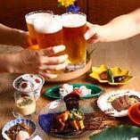 仲間との和やかな宴会も花鼓でどうぞ。おまかせ創菜コースは、ご予算に合わせてお作りします。