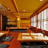 個室の襖も取り外し、見通し良く、一体感のある空間でお過ごしいただけます。
