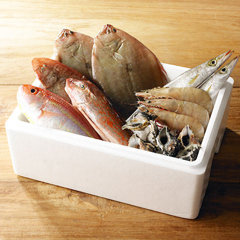 毎朝届く提携漁港直送の鮮魚ボックス