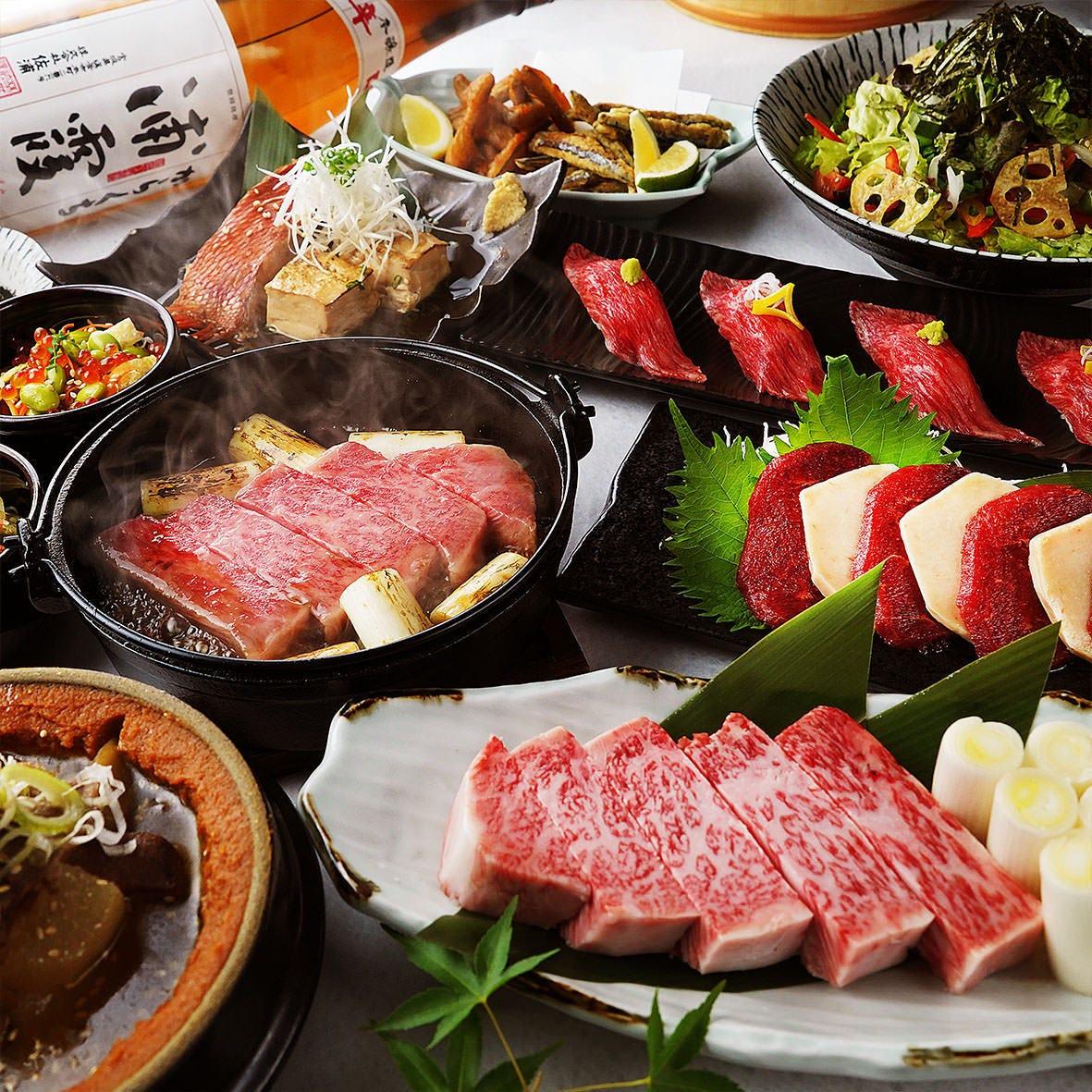 海鮮も肉も満喫できる極上宴会コース