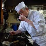 料理人:大島 敏夫 業歴50年
