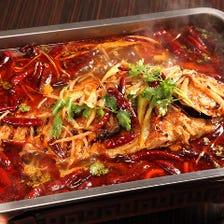 鮮魚の四川風煮
