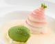 白玉粉 いちご クリームチーズ 抹茶のアイス