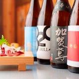 馬肉にあう日本酒や焼酎を厳選してご用意しました