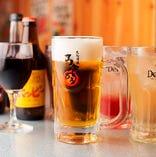 生ビールも飲み放題に入ってお得!充実の飲み放題ドリンクをご用意しました