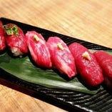桜肉の握り寿司