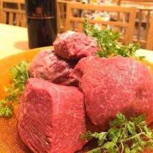 最高級の肉は調理法にもこだわる。