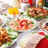 フカヒレの姿煮とアワビの煮込み豪華宴会コース