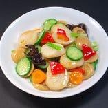 ホタテと野菜炒め