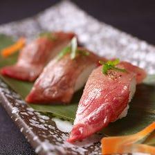 近江牛とろの握り寿司 3種盛り合わせ