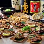 おすすめの串料理は様々なラインナップを取り揃えております。