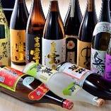 お酒の種類の豊富さにも自信あり!泡盛、焼酎からワインまで。