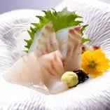 日本一の鯛漁師が獲った鯛のお造りは絶品。ご来店の際は是非!