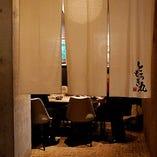 落ち着いてお食事をお楽しみいただける個室もご用意。(~6名様)