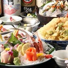 刺身・天ぷら定番飲み放題付¥3,980~
