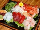 お造り定食(松)…4種盛り