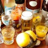 地酒を中心に焼酎や果実酒など、ドリンクは多彩に取り揃えました