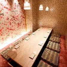 おしゃれで洗練された完全個室