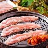 2名様~OK!豚バラ肉&野菜食べ放題「サムギョプサルコース」