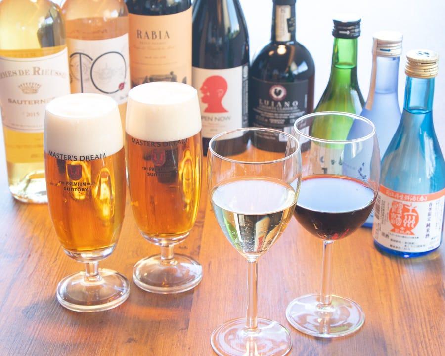 お酒も充実で夜の宴会などにも最適