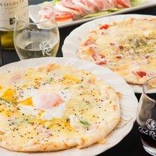 定番!パリパリのピッツァ