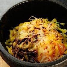 こんがりチーズの石焼きピビンバ