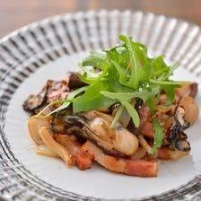 牡蠣のガーリックバターソテー