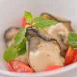 牡蠣のスモーク ミントサラダ