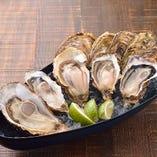 生牡蠣盛り合わせは3種、5種