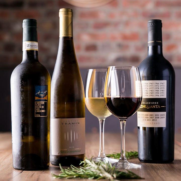 ワインとお食事を満喫する素敵な夜を
