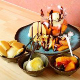 バニラアイス フルーツ添え