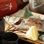 旬魚の塩焼き