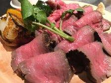 国産和牛を使ったこだわりの肉料理