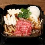 【黒毛和牛】 すき焼定食