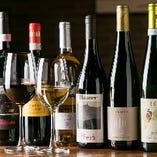 イタリアワインは常時30品以上を常備。リーズナブルなものを厳選