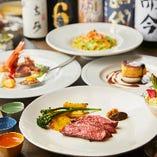 日本酒20種以上×季節のイタリアン7品コースをペアリングで堪能!「3H飲み放題付8,000円コース」。