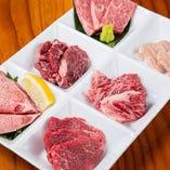 〈一人焼肉〉 6種の部位が食べ比べできるお得なセットも◎