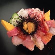 【近江町市場内】 新鮮な魚介類!