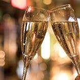 記念日にはシャンパン・スパークリングで乾杯
