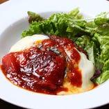 イタリアンソースのハンバーグステーキ