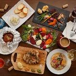 【三浦野菜をコースで】人気のアボカド料理も含む全6品に2時間の飲み放題もセットにした、女性に大好評のコースです