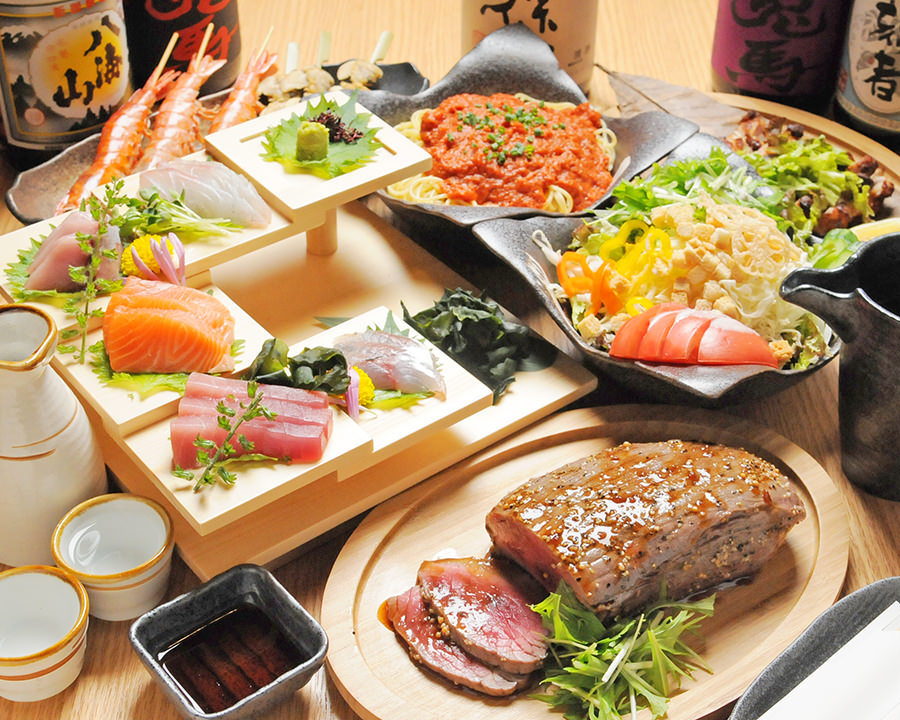 海鮮料理~肉料理まで料理多数 お客様に合ったコース内容に!!