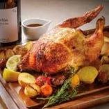 チキンロースト&ひな鶏半身から揚げ500g