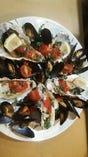 牡蠣とムール貝のアクアパッツア
