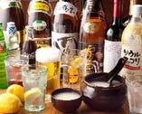 《30種類以上!種類豊富な飲み放題メニュー》 生ビールはもちろん、マッコリやワインも飲み放題! 女性に人気の広島県産レモンを使った生しぼりレモンサワーなど、サワー&カクテルも大充実☆