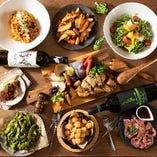 ◆コース◆ パーティにぴったりの大皿料理がずらりと並びます