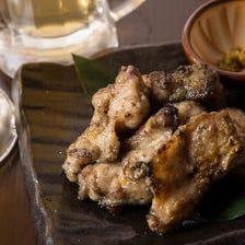 鶏肉の中で最も脂が乗っていてジューシーな部分★ 丹波鶏ぼんじりの黒焼き