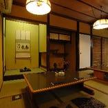 格式ある京町家の雰囲気に温もりをプラスして、和やかさを演出